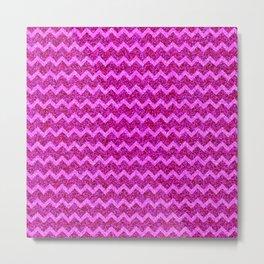 Chevron Glitter Pattern 04 Metal Print