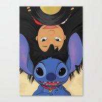 lilo and stitch Canvas Prints featuring Lilo & Stitch by Ashleigh Jane