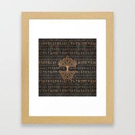 Elder Futhark Pattern and Tree of life Framed Art Print