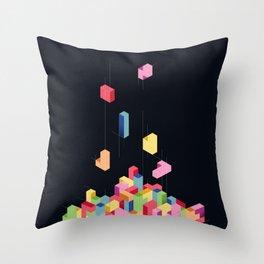 Tetrisometric Throw Pillow