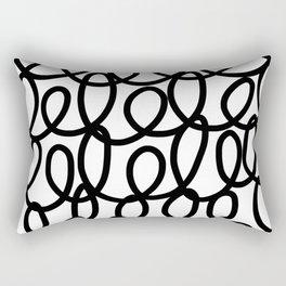 Loop the Loop / Black on white Rectangular Pillow