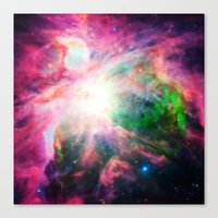 nebula Canvas Prints featuring Orion NebuLA Colorful Purple by 2sweet4words Designs