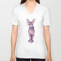 sphynx V-neck T-shirts featuring Sphynx by Dezignjk (Justin Kohout)