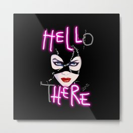 Hell Here! Catwoman Metal Print
