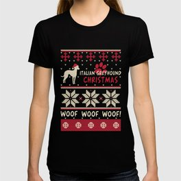 Italian Greyhound christmas gift t-shirt for dog lovers T-shirt