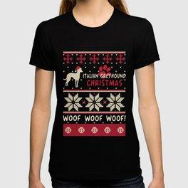 Italian Greyhound christmas gift t-shirt for dog lovers T-shirt