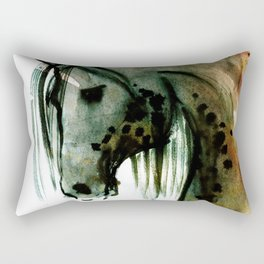 Horse (Lusitano portrait) Rectangular Pillow