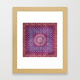Old Bookshop Magic Mandala Framed Art Print