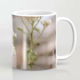 Whimsical White Flowers in Vintage Coffee Mug