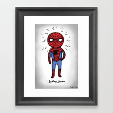 Super Cute Heroes: Spidey Senses Framed Art Print