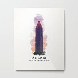 Atlanta Bank of America Plaza Metal Print