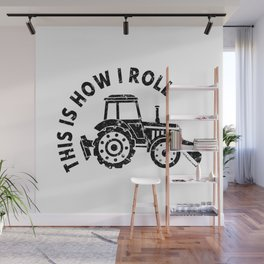 Tractor Farmer Agriculturer Farm Farming Gift Idea Wall Mural