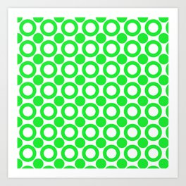 Dot 2 Green Art Print