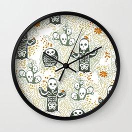 Skeleton Cacti Wall Clock