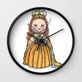 Queen Elizabeth I of England Coronation Wall Clock