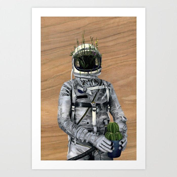 Cacti   Spaceman No:1 Art Print