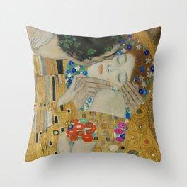 Gustav Klimt - The Kiss (detail) Throw Pillow