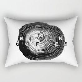 Black Coffee Abstract Art Rectangular Pillow