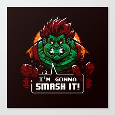 Gonna Smash It! Canvas Print