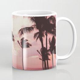 Tropical Palm Tree Pink Sunset Coffee Mug