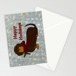Happy Holidays Dachshund Stationery Cards