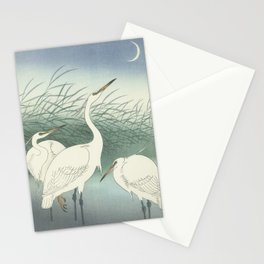 Herons in Shallow Water, Ohara Koson, 1934 Stationery Cards