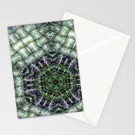 Watery Orbitals Mandala 3 Stationery Cards