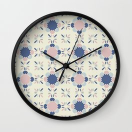 Pastel Tile Wall Clock
