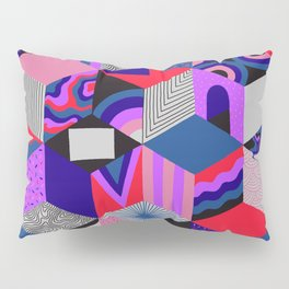 Isometric Cubes - Teal/Orchid/Strawberry Pillow Sham