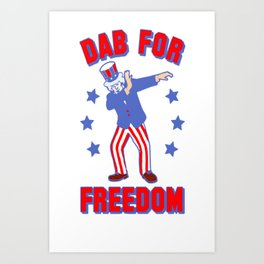 DAB FOR FREEDOM TANK TOP Art Print