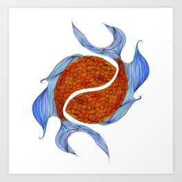 Pisces- The Two Fish Art Print