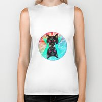 hippy Biker Tanks featuring Hippy Cats #2 by Lauren Miller