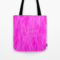 it takes two baby | fluffy Tote Bag