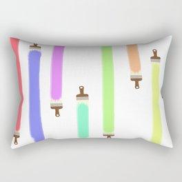 Paintbrushes Rectangular Pillow