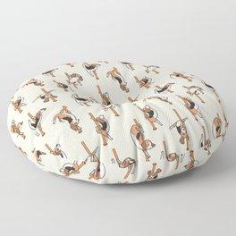 Beagle Pole Dancing Club Floor Pillow