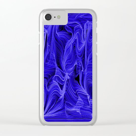 Midnight Blue Mist Clear iPhone Case