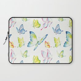 colorful watercolor butterflies Laptop Sleeve