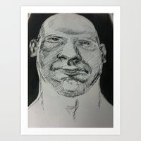kevin russ Art Prints featuring kevin by Bern