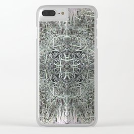 Celtic Knot Cattails Clear iPhone Case