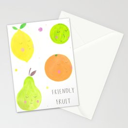 Friendly Fruit Stationery Cards