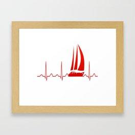 Sailing Heartbeat Framed Art Print
