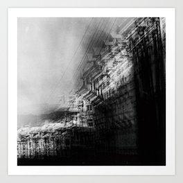 city in monochrome Art Print