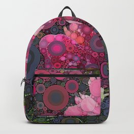 Pink Flowers at Twilight Abstract Rucksack