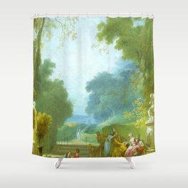 "Jean-Honoré Fragonard ""A Game of Hot Cockles"" Shower Curtain"