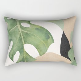 Abstract Art Tropical Leaves 3 Rectangular Pillow