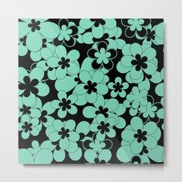 Turquoise , flower Metal Print