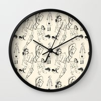 chic Wall Clocks featuring Chic by ShannonMarieMack