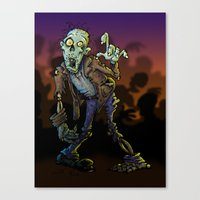 zombie Canvas Prints featuring ZOMBIE! by Billy Allison