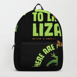 Lizard Anole Salamander Reptile Lover Backpack