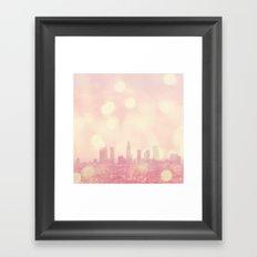 City of Dreamers. Los Angeles skyline photograph Framed Art Print